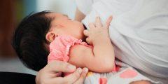 تضخم صدر الأم بعد الولادة
