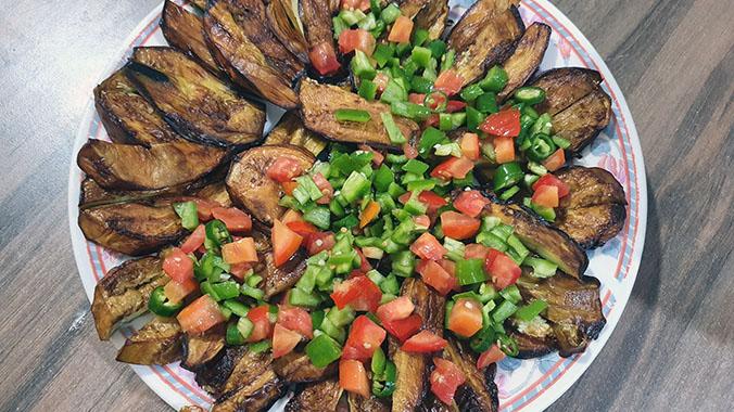 طبق الباذنجان المقلي